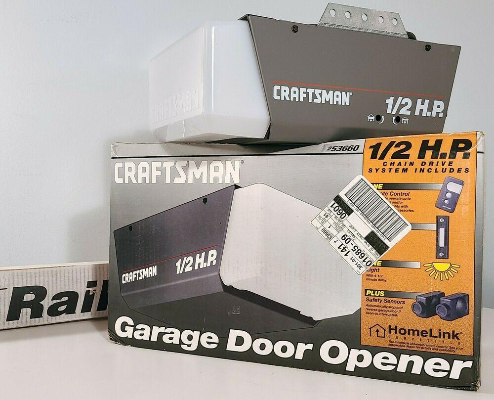 Craftsman Garage Door Opener System 1 2hp Chain Drive 53660 Complete New In Box Ebay In 2020 Craftsman Garage Door Opener Electric Garage Door Opener Vintage House