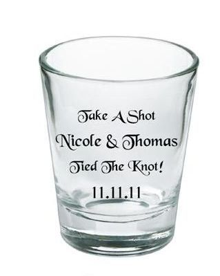 Wedding Favors Personalized Shot Glasses Weddings Planning