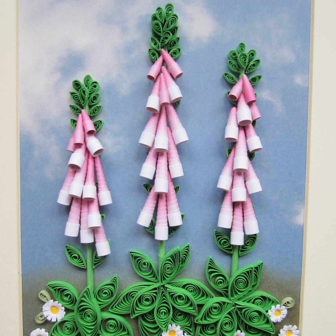 #quilled #quilling #foxgloves #daisies #wildflowers #summer
