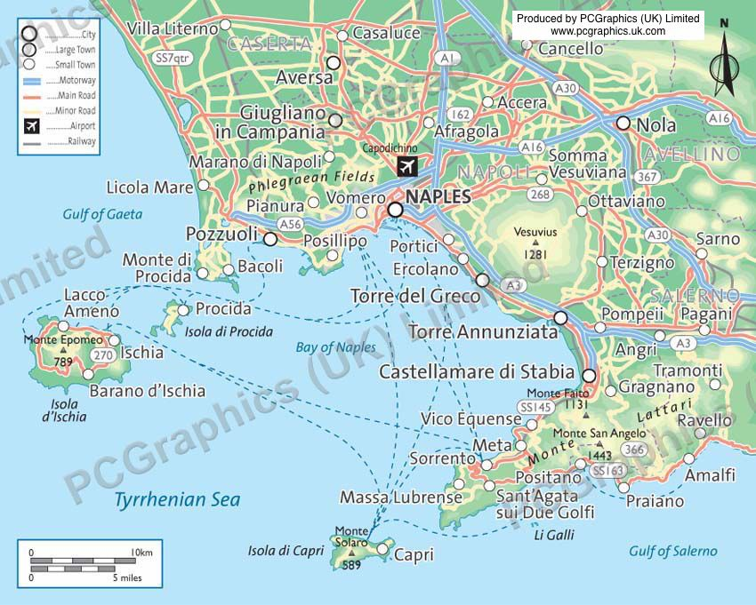 Pin By Pcgraphics On Naples And The Amalfi Coast Maps
