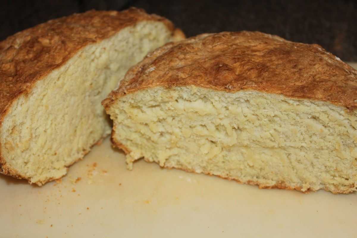Traditional Irish Soda Bread Recipe - No Yeast Or Kneading Required And Only 5 Minutes To Prepare!