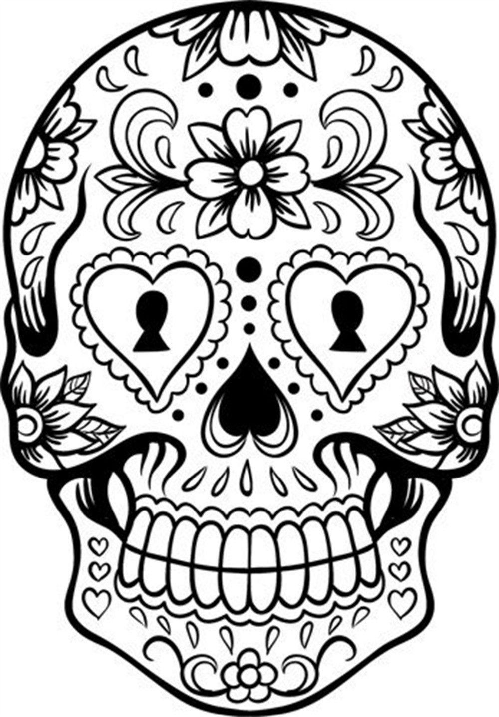 Happy Halloween Sugar Skull Version 6 Graphic Living Room Vinyl ...