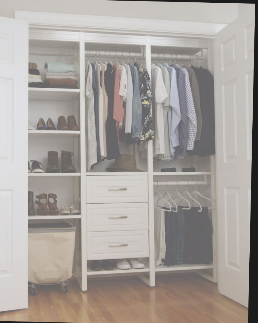 Say goodbye to cramped hanging space and bottomless shoe bins. Closets by Liberty provides the custom organization you need.
