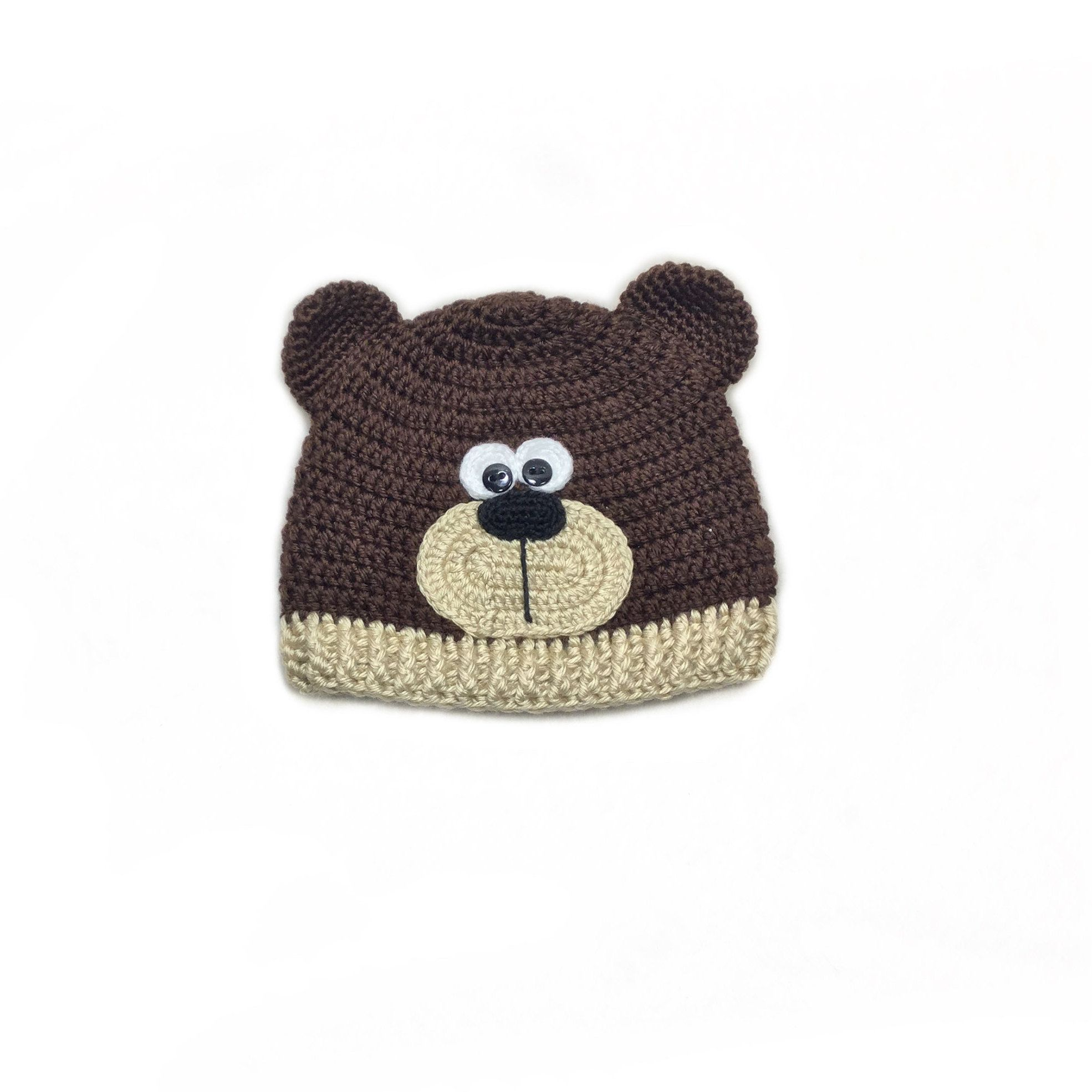 3e779d26824 Crochet bear hat teddy brown Baby outfit Teddy bear set Newborn photo props Crochet  Teddy Bear Baby beanie Crochet baby hat by ABdesignCrafts on Etsy