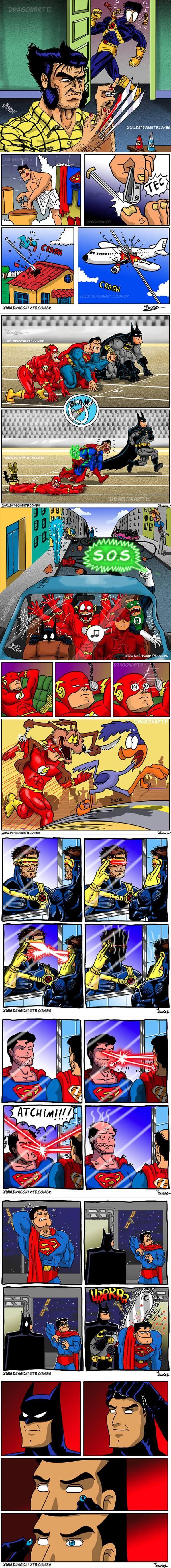 THE HOMEMADE HUMOUR: Hilarious  Super Hero Comics That'll Make You ROFL! ^