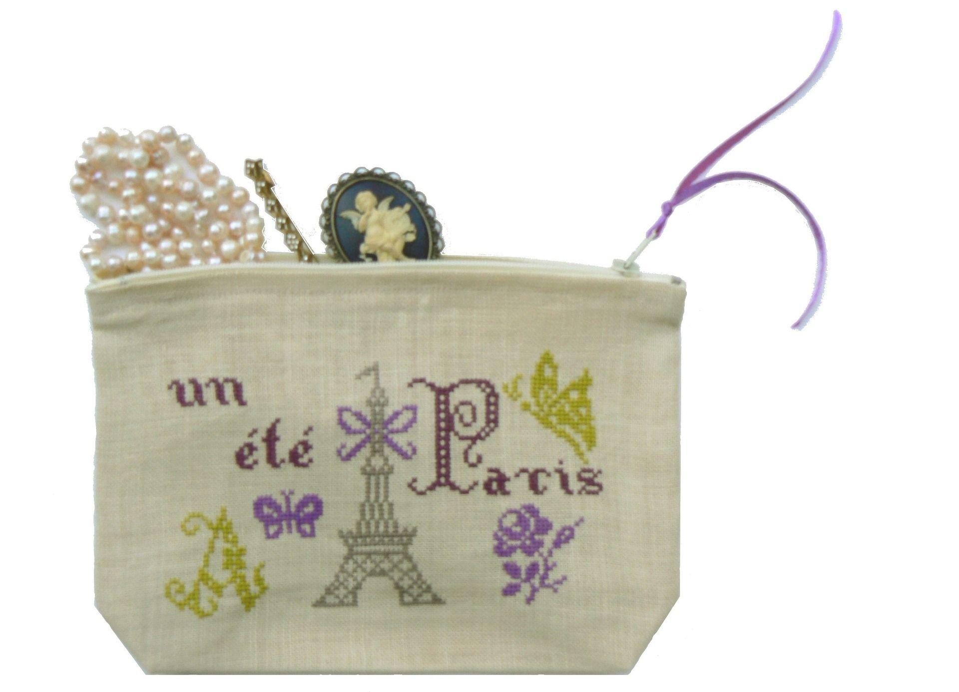 GRILLE ETE A PARIS BRODERIE SUR LIN POINT DE CROIX | Paris | Pinterest | Parisians, Cross stitch ...