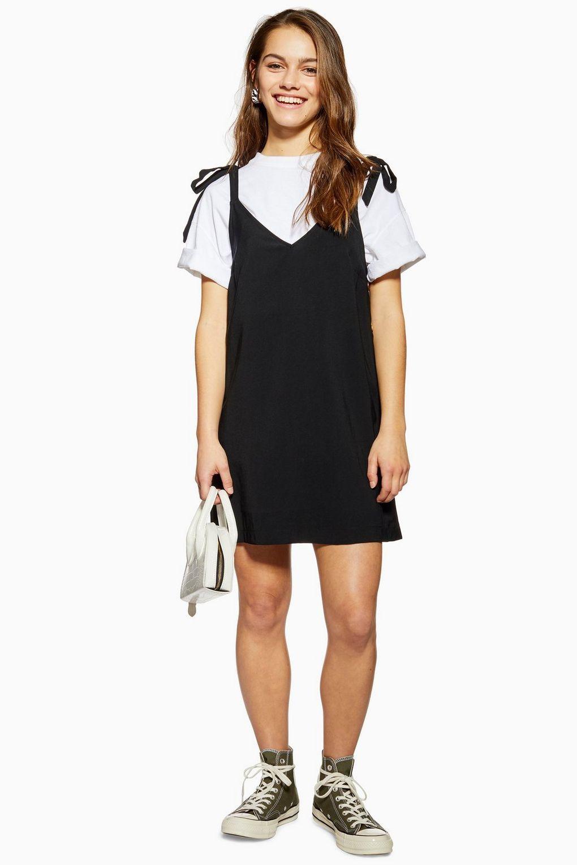 Petite Black Button Mini Slip Dress Topshop Usa Mini Dress With Sleeves Mini Slip Dress Top Shop Dress [ 1530 x 1020 Pixel ]