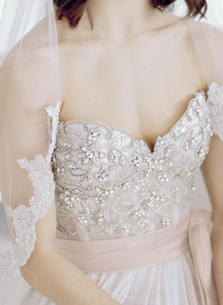 Nice dresses for wedding  Bridal Fitness Inspiration For Your Wedding Day  Lace detail Veil