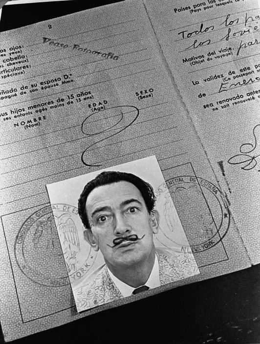 SALVADOR DALI.....IDENTITY CARD....PARTAGE OF MAJA BRGLEZ.....