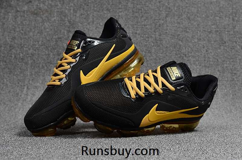 promo code d9ab2 5acb3 New Style Nike Air VaporMax 2018 KPU Black Golden Men Shoes