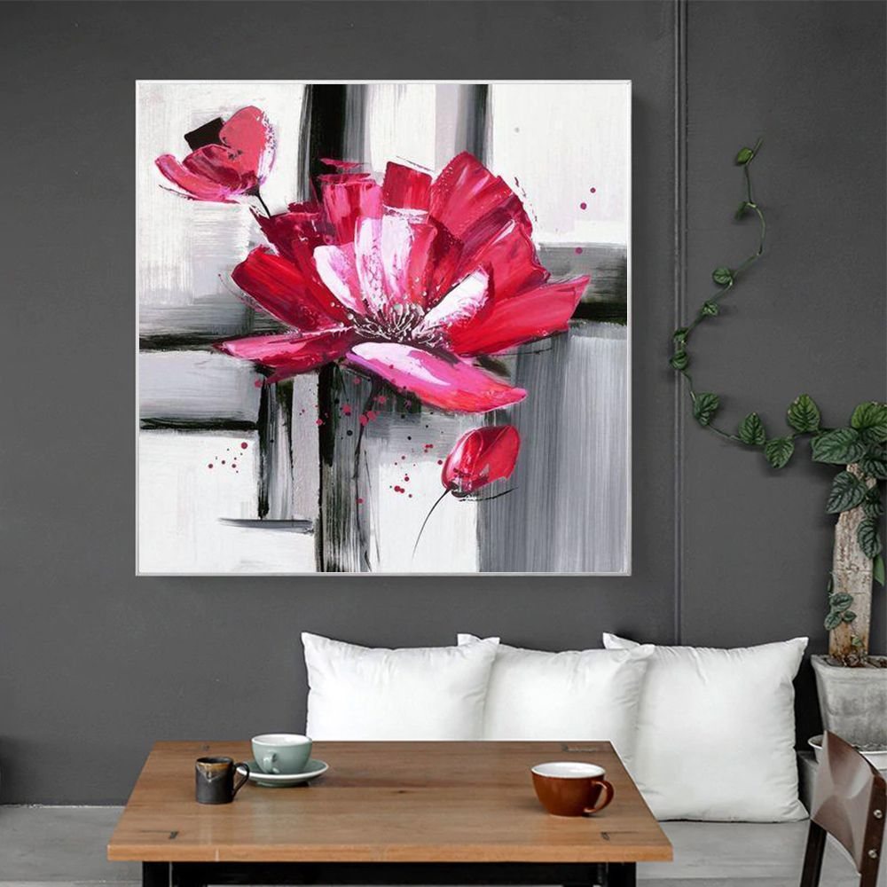 Flower Hand Painted Oil Painting Canvas Wall Art Painting Canvas Wall Art Oil Painting