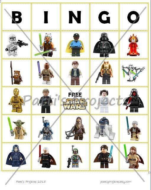 Star Wars Lego Inspired Bingo Game Digital Download | Bingo games ...