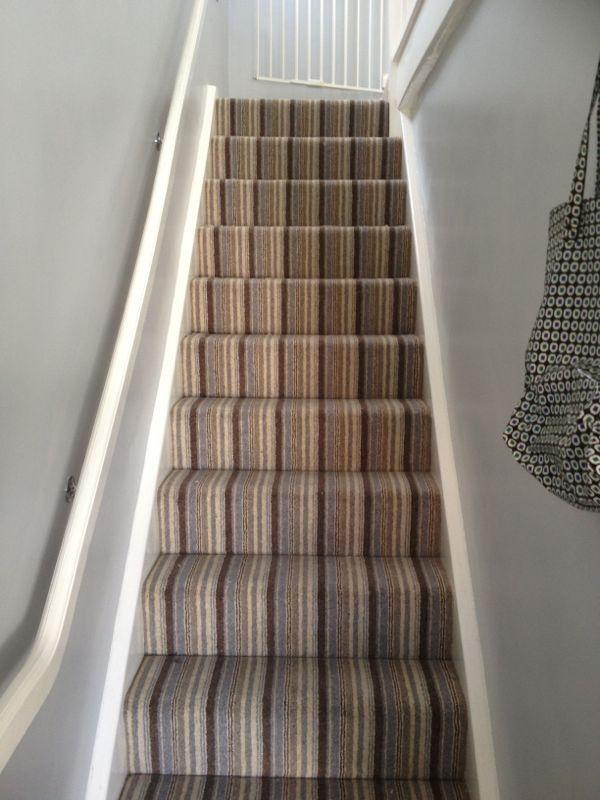 My New Stripey Carpet Striped Stair Carpet Pinterest