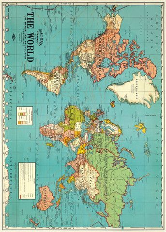 Vintage World Map Old World Map - Vintage Art Image - Instant - new world time map screensaver free download