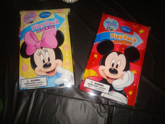 Mickey And Minnie Play Packs That Contain A Full Size Coloring Book Crayons Stickers