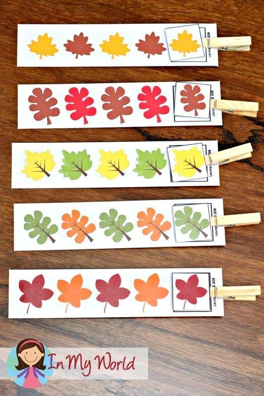 autumn preschool centers fall preschool autumn fall and leaves. Black Bedroom Furniture Sets. Home Design Ideas