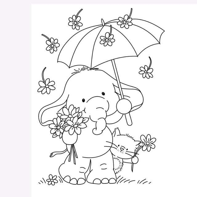 Online Shop Transparent Rubber Silicone Clear Stamps for