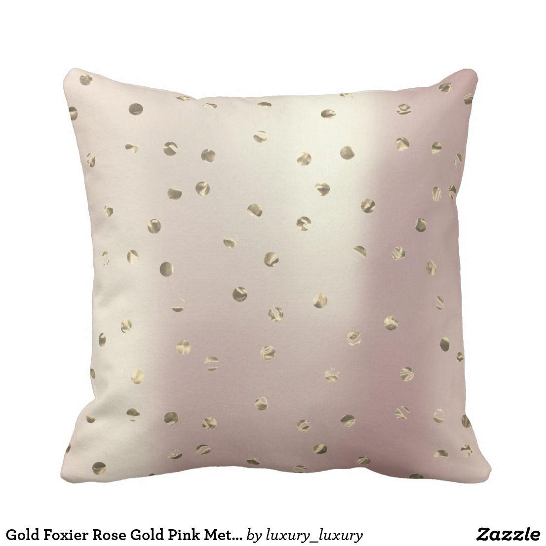 Gold Foxier Rose Gold Pink Metallic Polka Dots