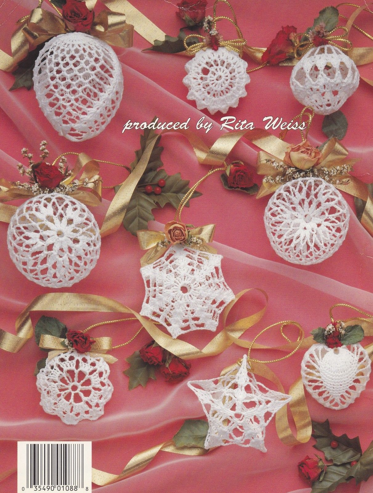 Christmas Romance Ornaments, Holiday Decor Crochet Pattern Booklet ASN 1088 - Dolls & Toys