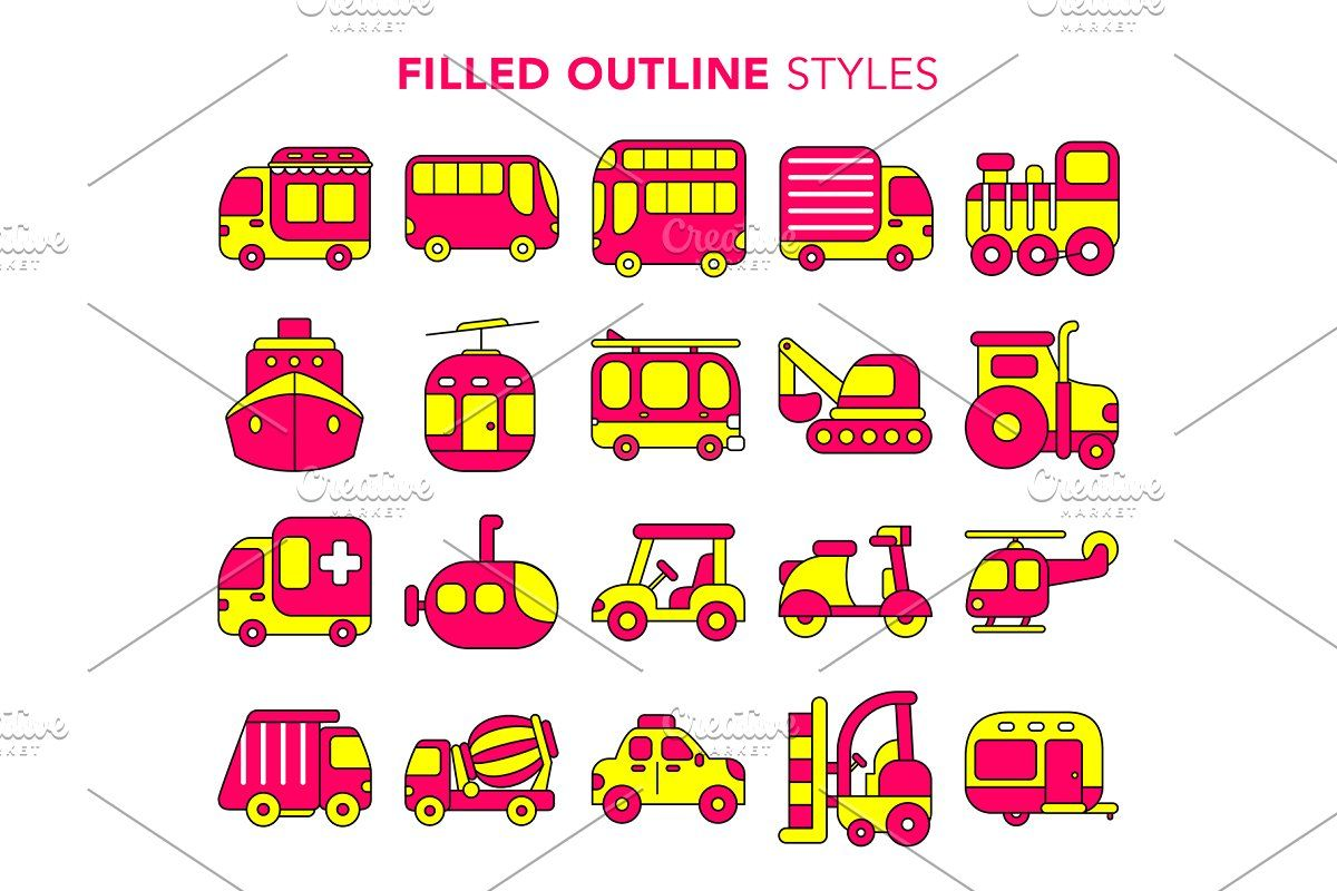 Transport Vector Icons In 2020 With Images Bike Shipping