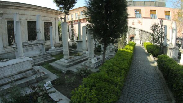 Stock Footage - Cemetery With Tombs and Graves | VideoHive