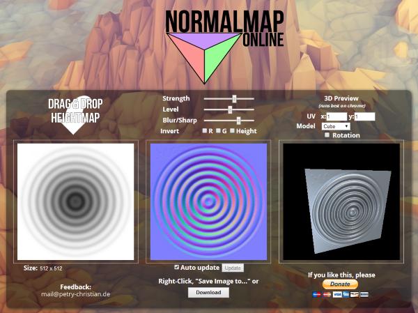 Normalmap Online 画像をブラウザ上にドラッグ ドロップし法線マップを生成出来るwebアプリが登場 Drawing Tutorial 3d Tutorial Online