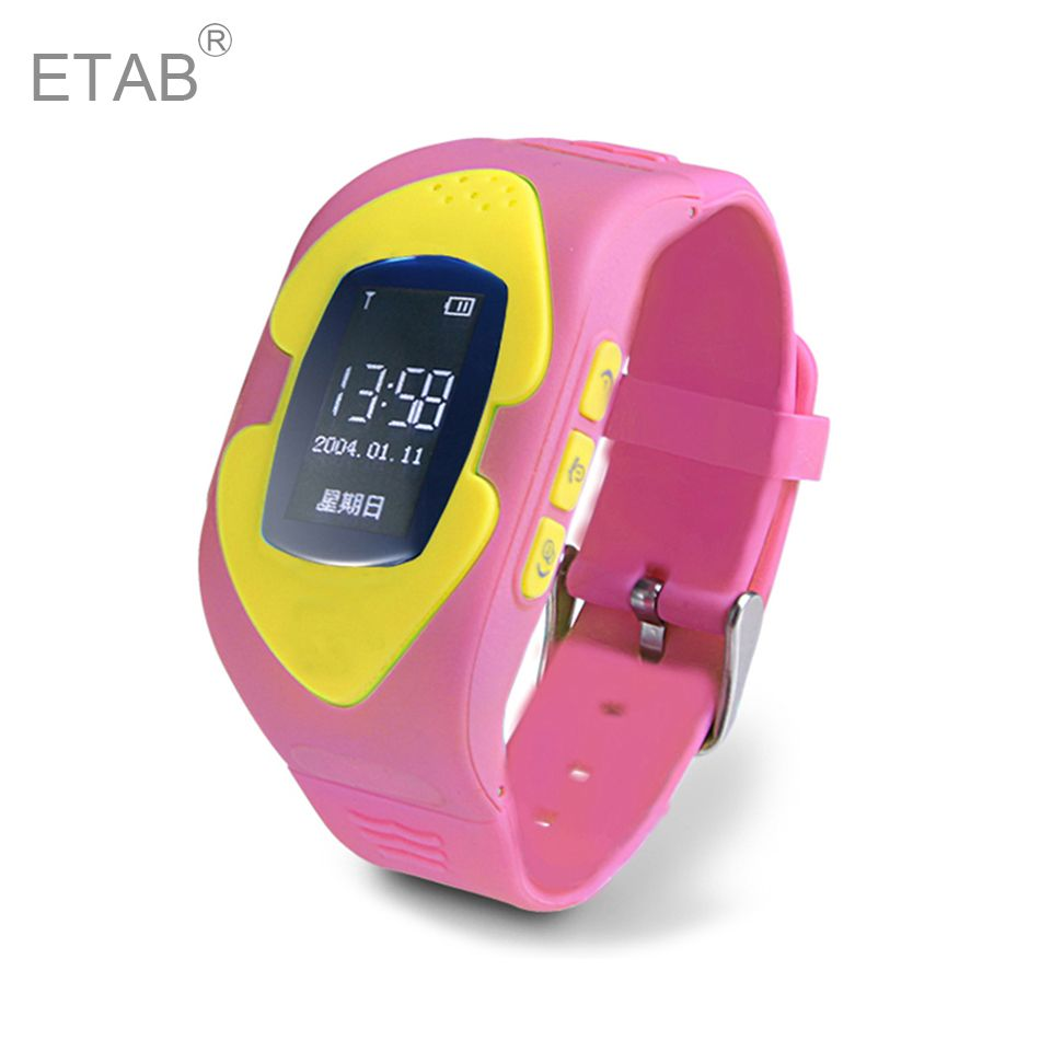 Etab GW001 GSM SIM Card New Silicone Belt Electronic Smart Pedometer Voice Inter Wrist Track Pink