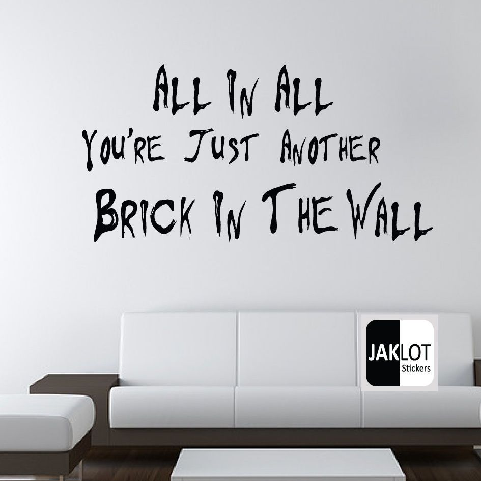 Pink Floyd The Wall vinyl graphic large decal