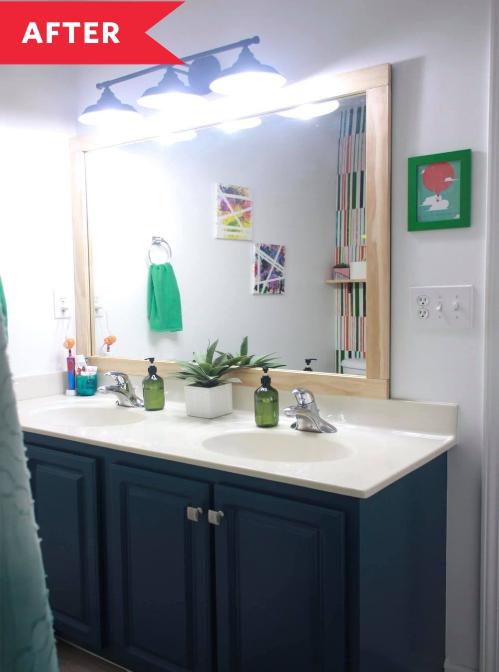 Before and After: This Bright DIY Bathroom Transformation ...