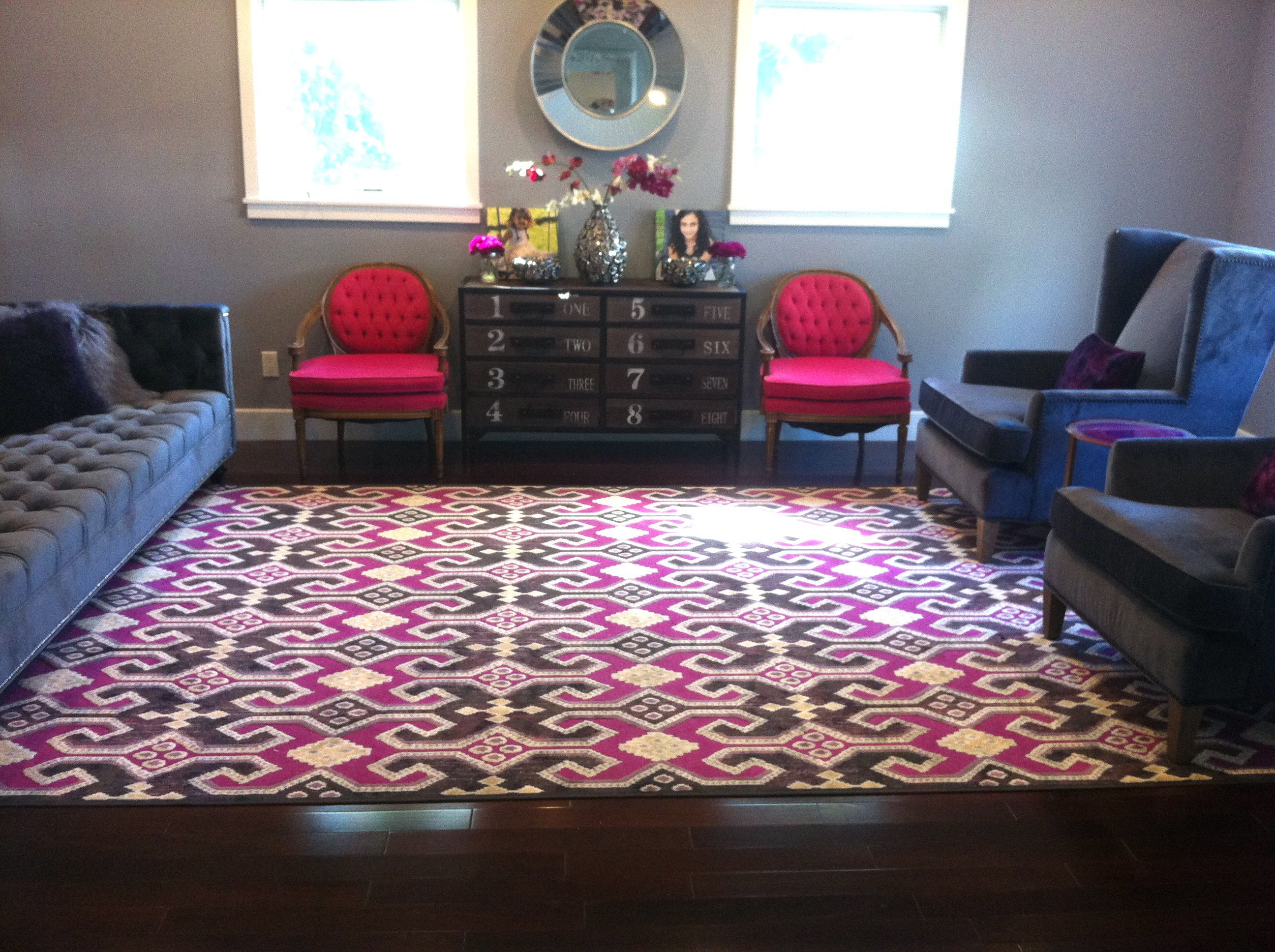 Home Goods Rug Mirror Dresser Wingback Chairs Vase