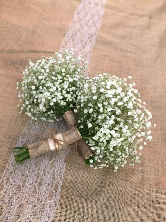 FRISCHER Baby Atem Hochzeitsstrauß, weiße Blume Braut, Landhochzeit, frische Hochzeit Flowe …