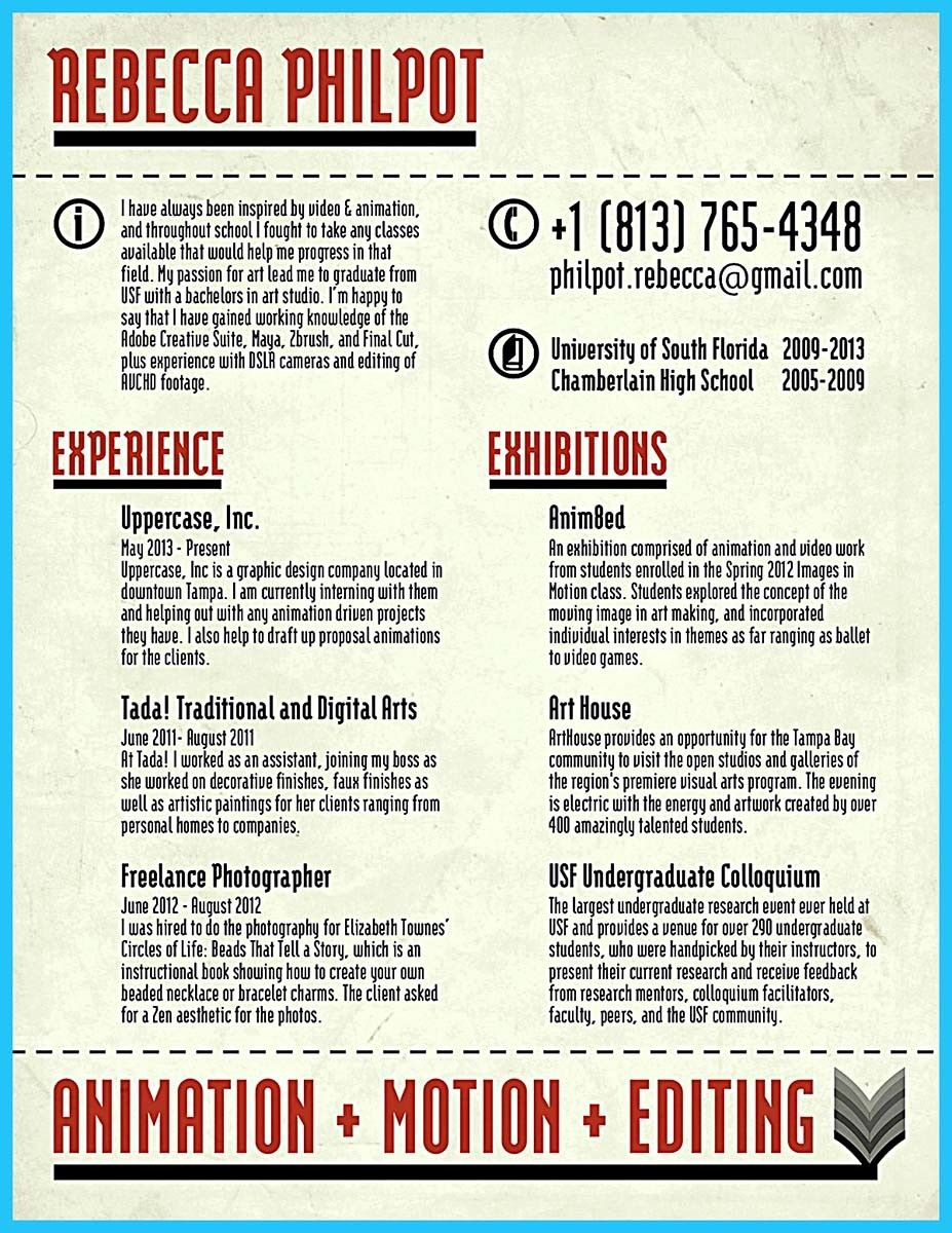 Traditional Resume Format Nice Make Unique Animation Resume To Help You Get The Jobhttp