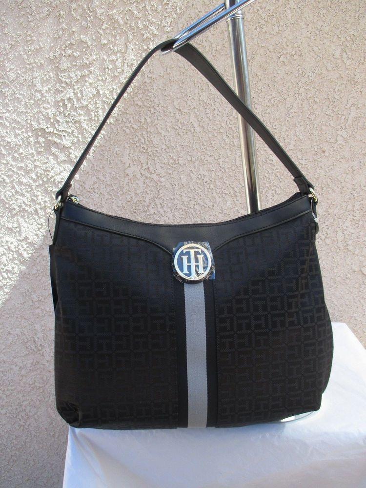 Tommy Hilfiger Black Handbag Purse Authentic Brand New Tags Hobo II 6935786  990  TommyHilfiger  Satchel 7a2637b775cd7