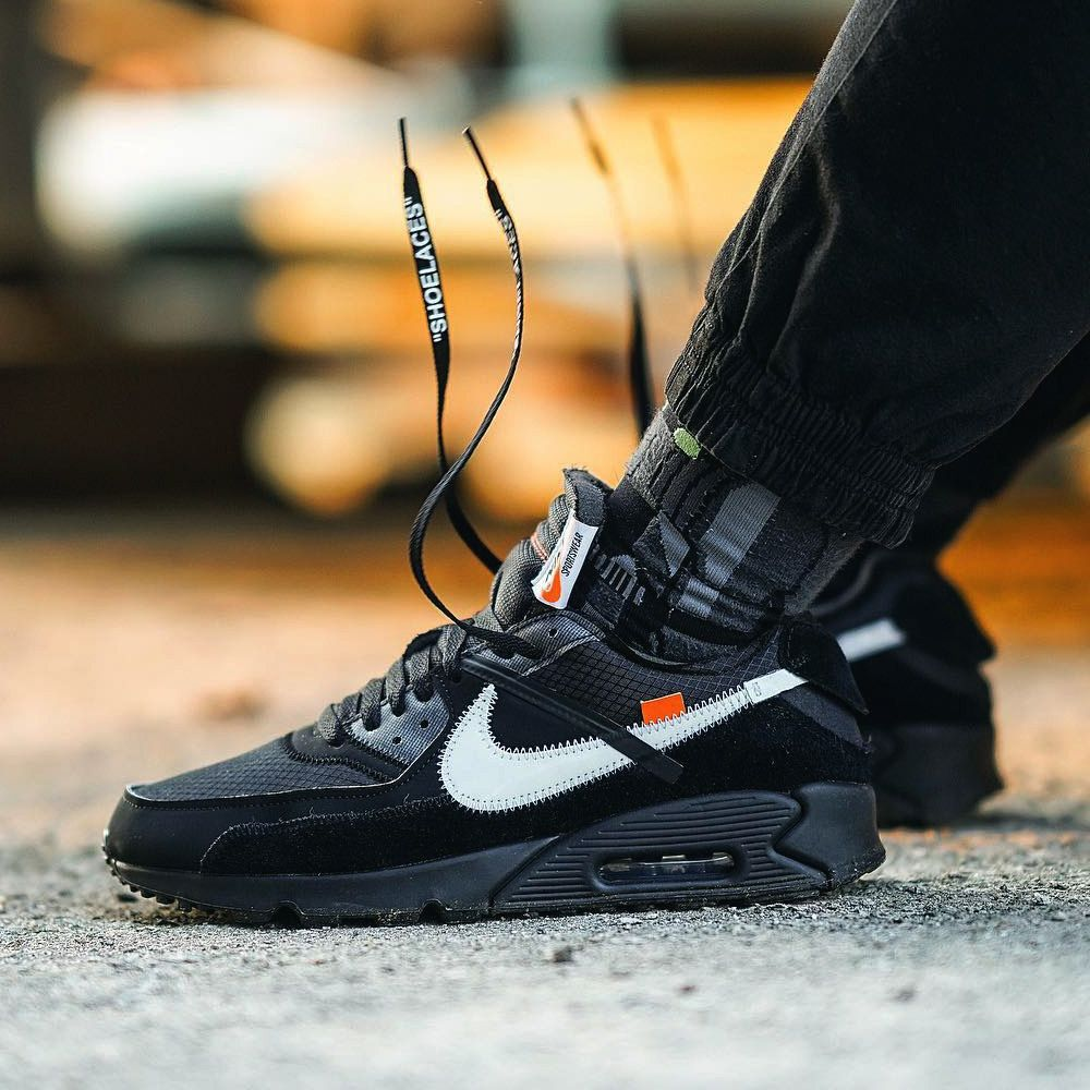 Off White X Nike Air Max 90 Black 2019 By Changekie Sneakers Nike Air Max Nike Air Max 90 Black Nike Air Max