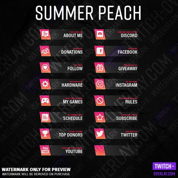 Pin on stream panels for twitch