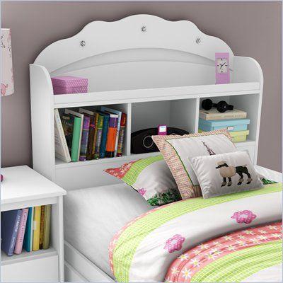 South Shore Sabrina Twin Bookcase Headboard in Pure White - 3650098