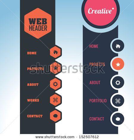 Vector Vertical Header Web Menu Design vertical menu Pinterest - fresh blueprint apple configurator