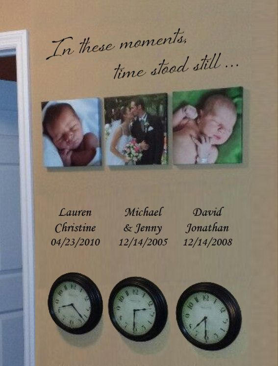 Personalized Wall Decal – In these moments, time stood still – Home decor