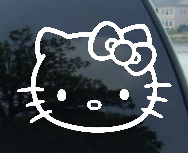 Sticker 1 Hello Kitty Car Window Vinyl Hello Kitty Car Accessories [ 1222 x 1500 Pixel ]