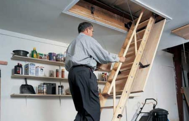 Easy Attic Access Attic Stairs Attic Renovation Attic Rooms