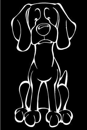 Weimaraner Decal Dog Weimaraner Dog Poster Silly Dogs