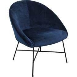Photo of Malou – Lounge Chair, Velvet, Blue