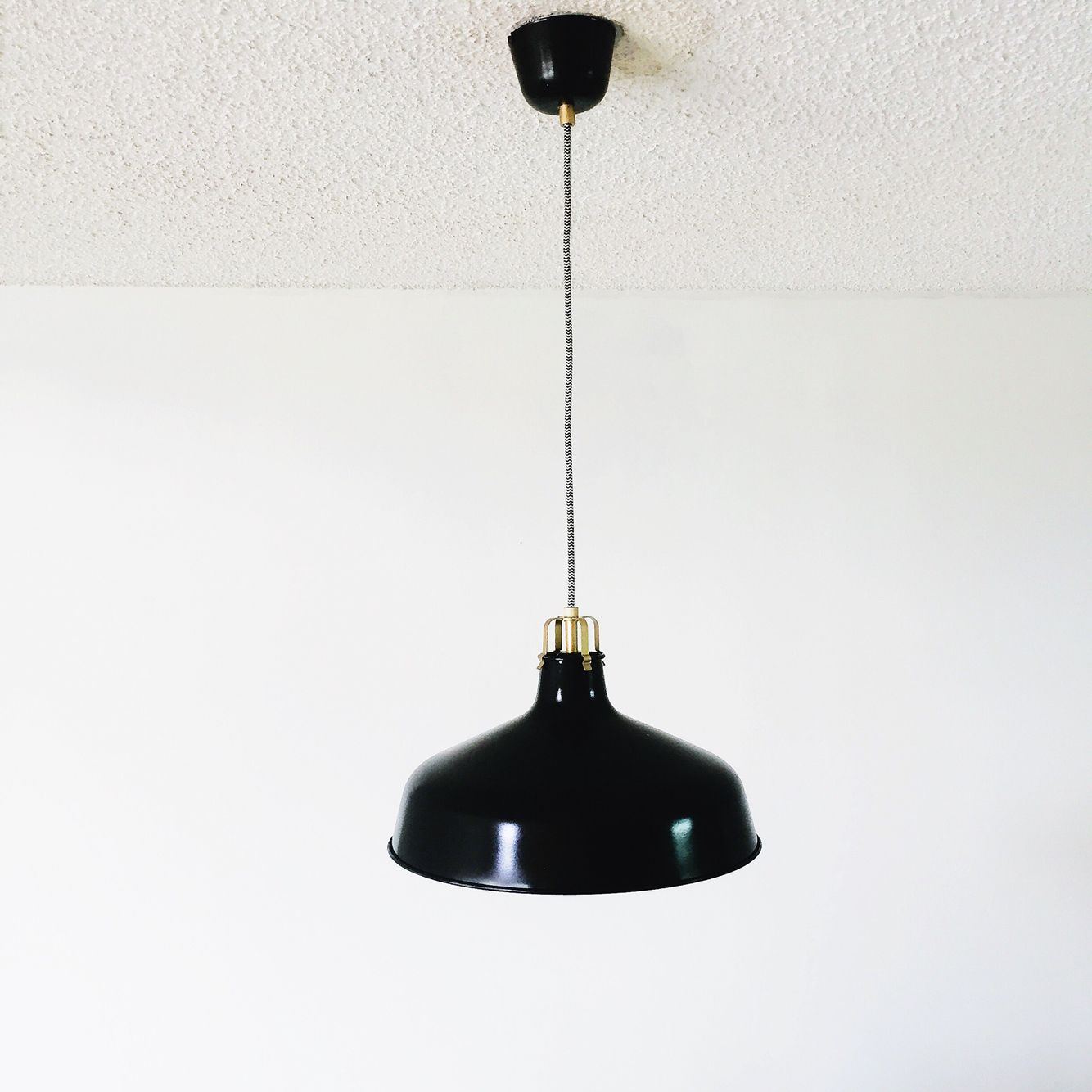 Ranarp Pendant Lamp Black 38 Cm: RANARP IKEA Ceiling Pendant Light. Spray Painted Black