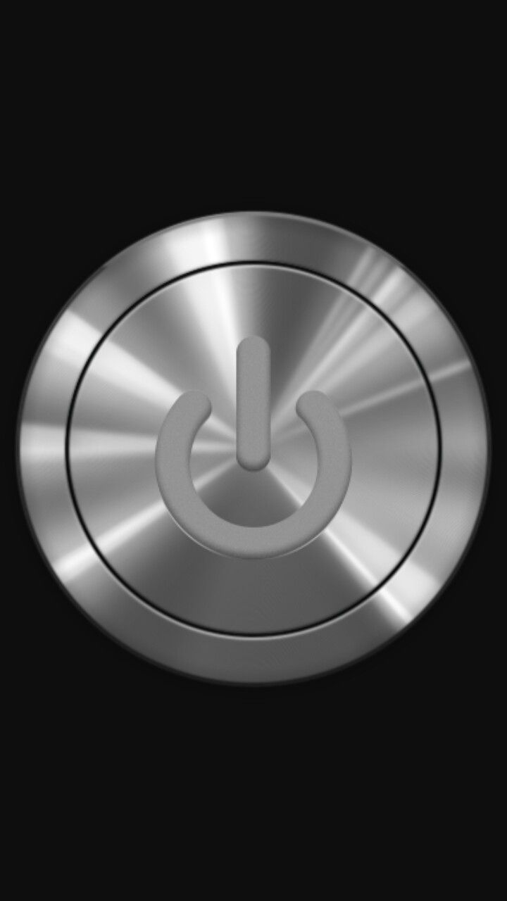 Nice Brushed Metal Power Button On Black Wallpaper For Iphone Unlock