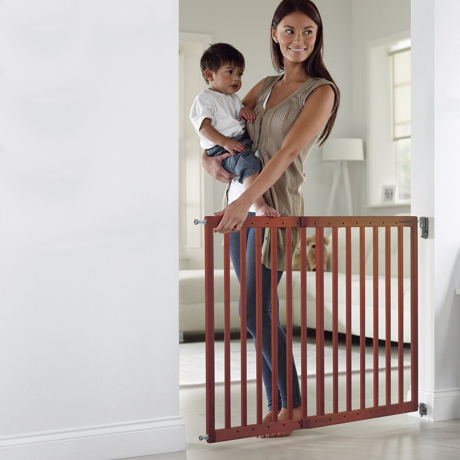 Extending Wood Baby Gate Wood baby gate, Baby gates