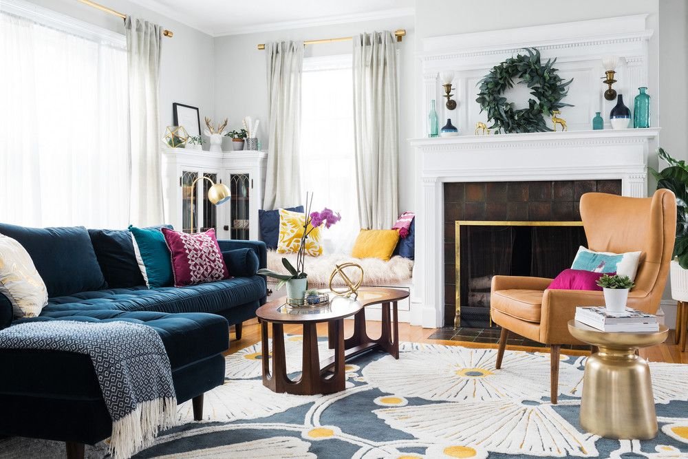 Antique Massachusetts Home Modern Renovation Living Room Chairs