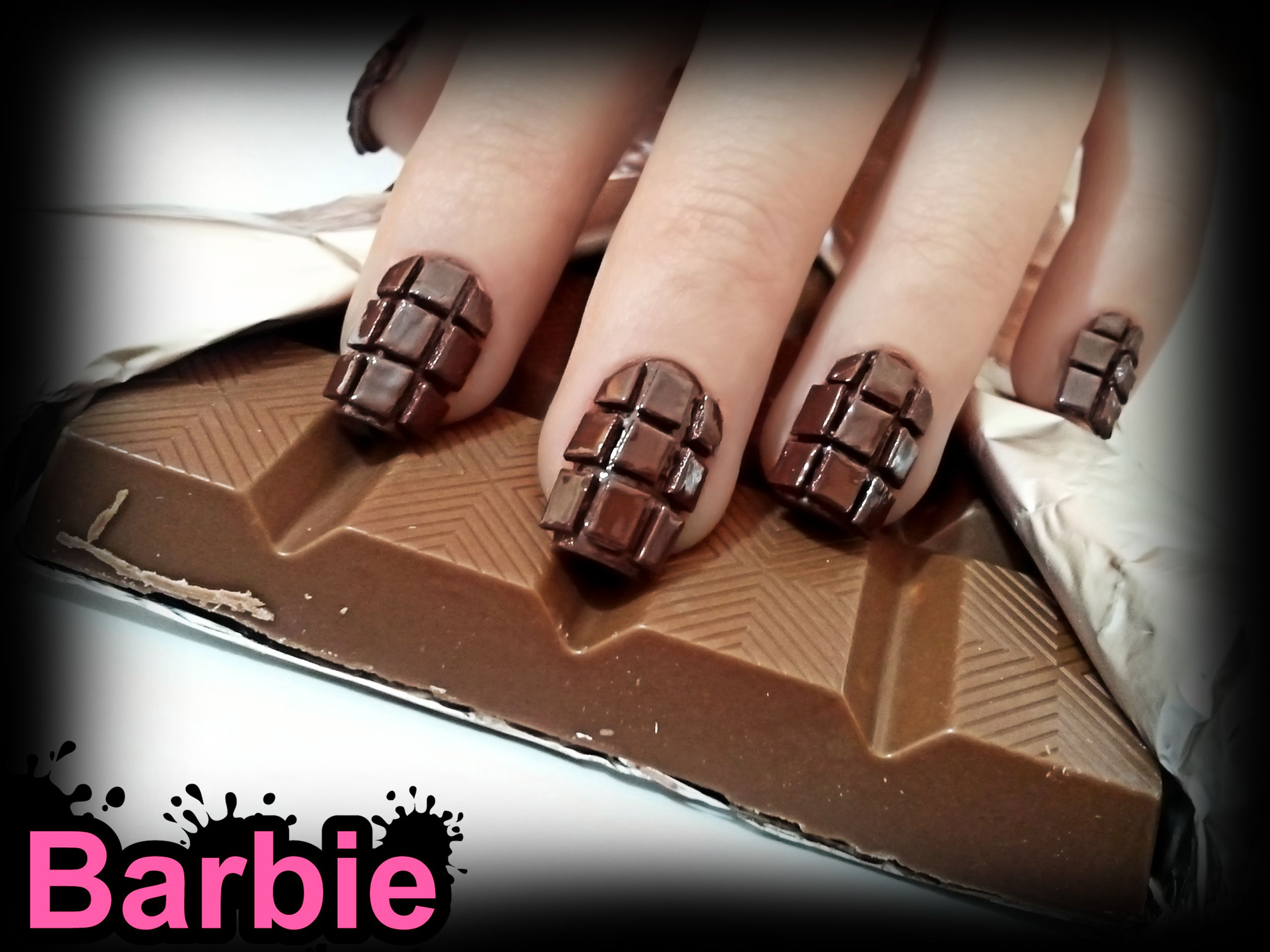 Chocolate Nails Three Dimensional Nail Design Shaped Like A