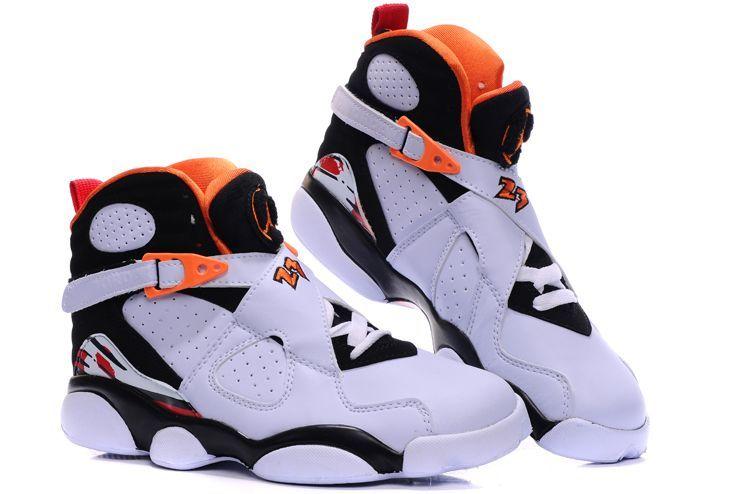 17f3666de20 Air Jordan 8(Uppers) + 13(soles) - White / Black / Orange,jordans  website,innovative design