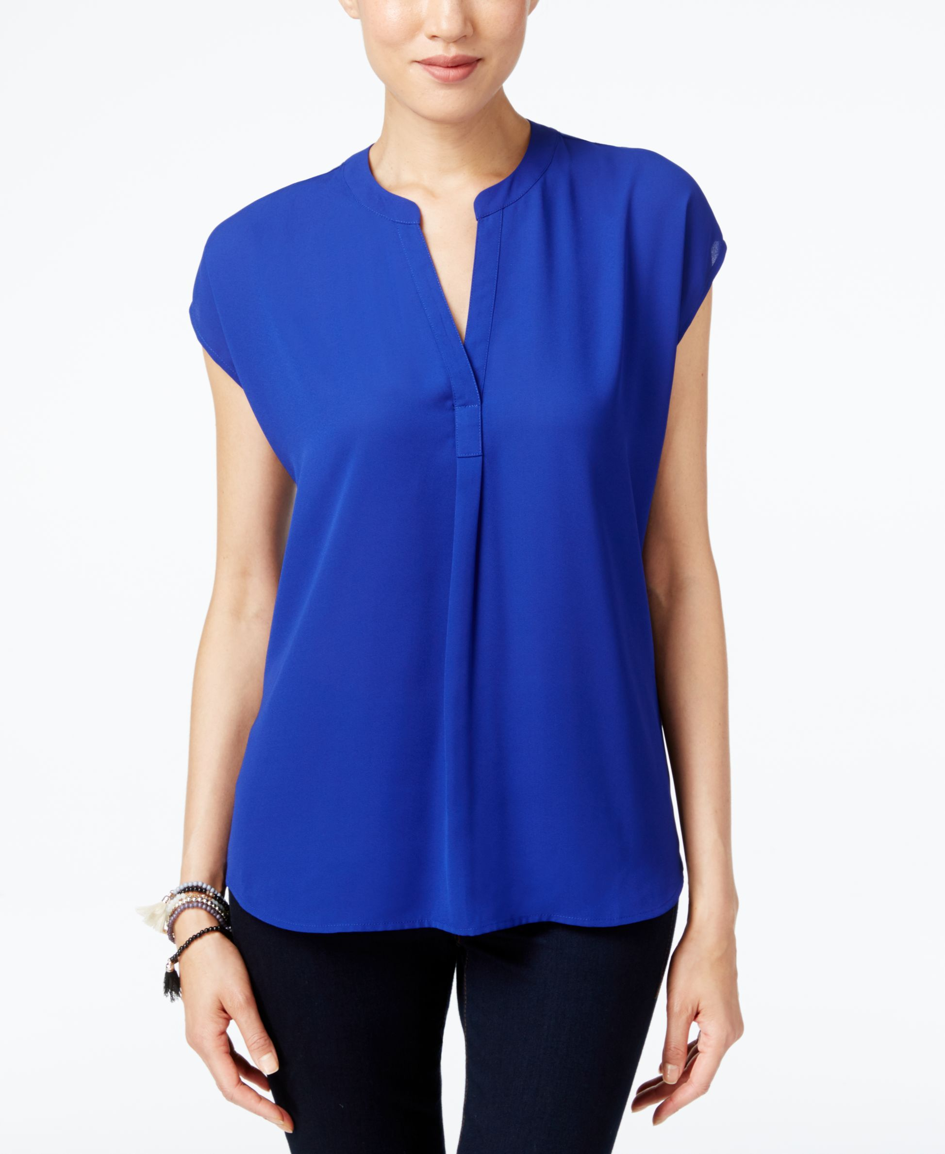 Inc International Concepts Dolman Sleeve Mixed Media Top Only At