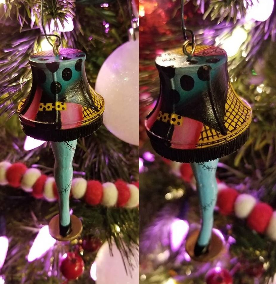 My Leg Lamp To Sally Leg Makeover Nightmare Before Christmas Nightmare Before Christmas Tree Halloween Party Themes